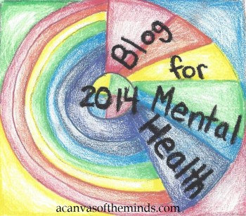 Blog for Mental Health 2014 badge acanvasoftheminds.com art by Piper Macenzie